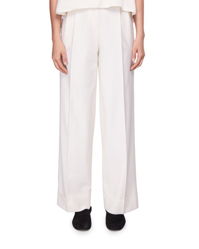 Liano Pleated Wide-Leg Pants Quick Look. THE ROW