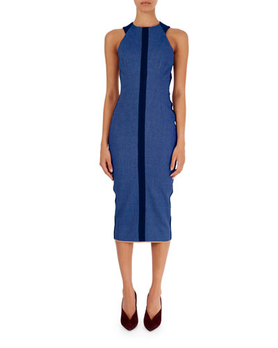 Sleeveless Racerback Sheath Dress
