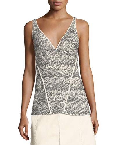 Lace V-Neck Cami Top