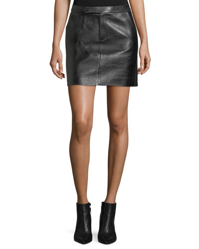 Bennett Leather Skirt