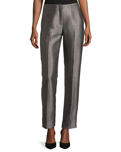 Simone Houndstooth Plaid Pants