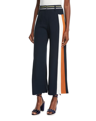 Cropped Colorblock Pants