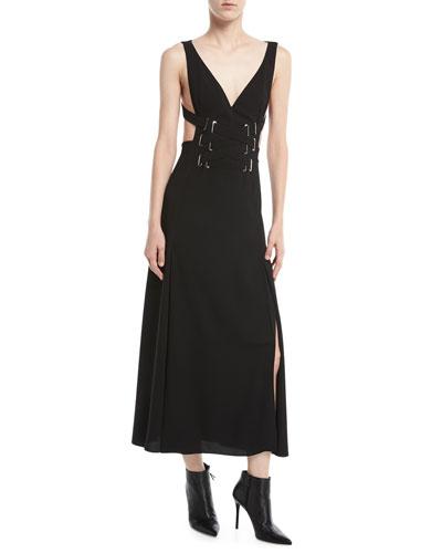 The Cutout Lace-Up Dress