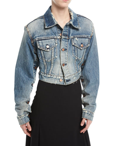 Cropped Editor Denim Jacket