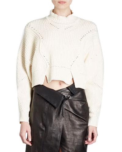 Lane Cropped Mock-Neck Sweater
