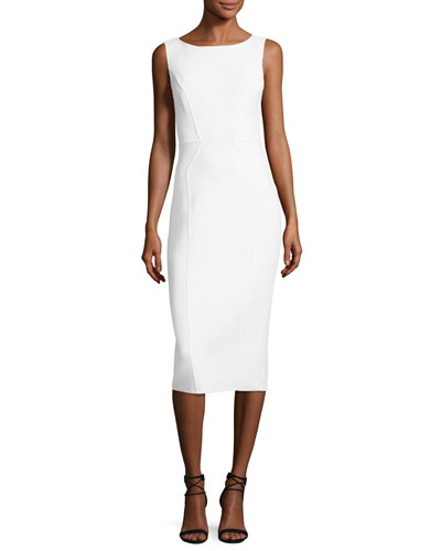Scoop-Neck Sleeveless Sheath Dress