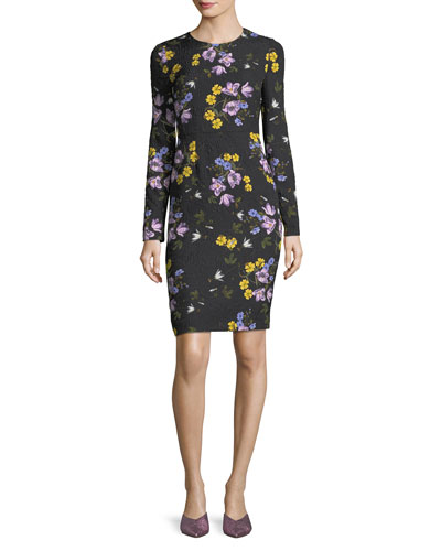 Evita Long-Sleeve Floral Dress