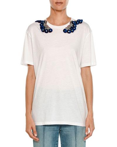 Embellished Short-Sleeve T-Shirt