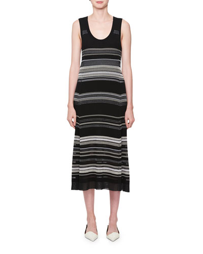 Multi-Stripe Sleeveless Dress
