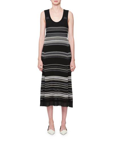 Multi-Stripe Sleeveless Dress