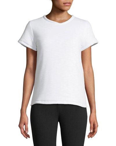 Short-Sleeve Padded Cotton T-Shirt