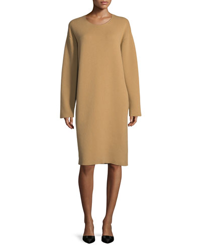 DOUBLE FACED BOXY DRESS