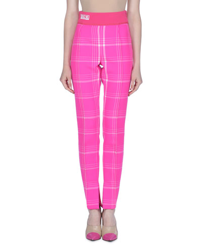 ab3c86afc66bc FENDI HIGH-RISE CHECKED WOOL TROUSERS