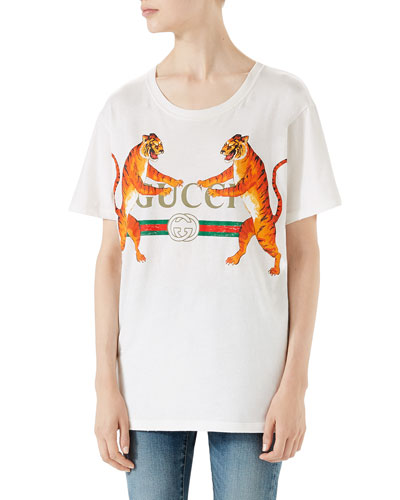 070bac95765 Gucci-Logo with Tigers T-Shirt