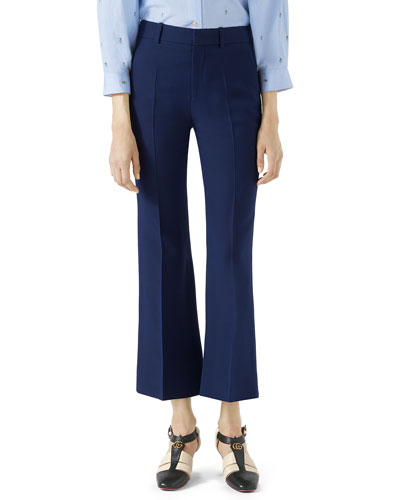 Cropped Cady Crepe Pants