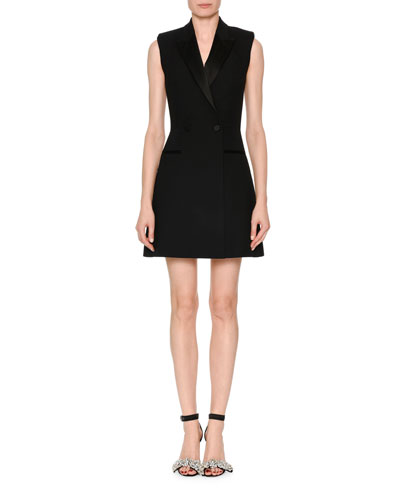 Sleeveless A-Line Tuxedo Dress