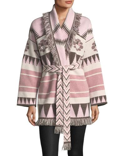 Icon Fringed Cashmere Wrap Sweater
