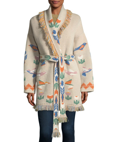 Tree of Life Cashmere Wrap Sweater