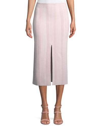 Double-Slit Ribbed Skirt