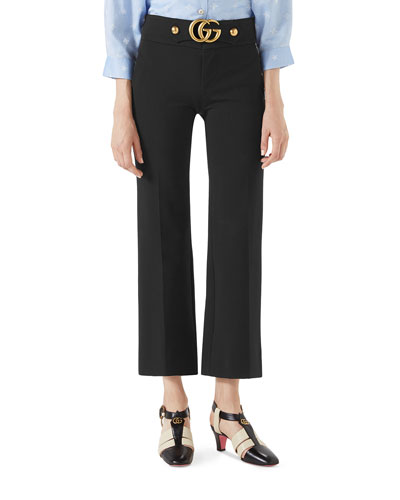Stretch-Viscose Pants with Double G