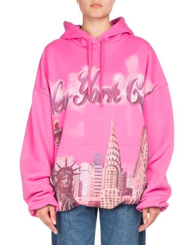 Oversized NYC Hoodie Sweatshirt