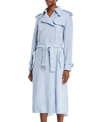 Tweed Trench Coat