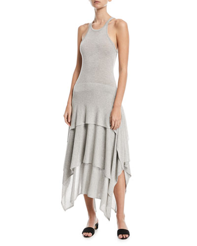Sleeveless Tiered Jersey Dress