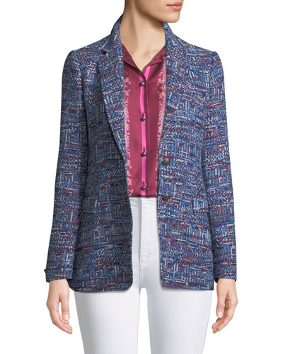 Tweed Two-Button Jacket