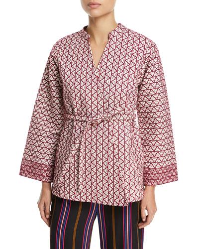 Gemma Embroidered Wrap Jacket