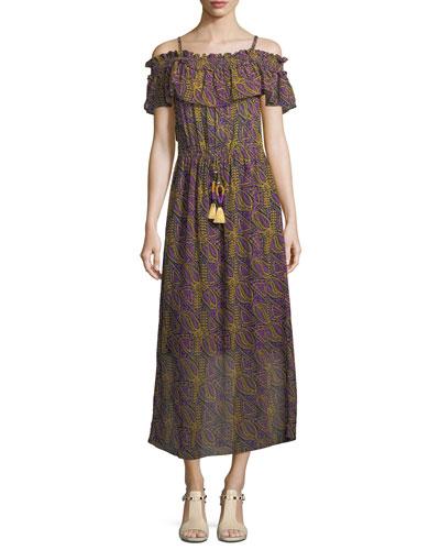 Mirella Off-Shoulder Midi Dress