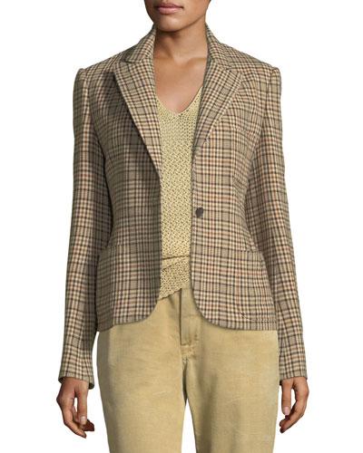 Filmore Overcheck Wool-Blend Jacket