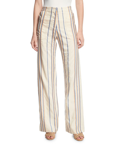 Eda Stripe Wide-Leg Pants
