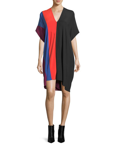 Lena Seamed Colorblock Dress
