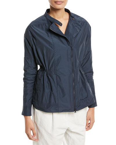 Short Taffeta Zip Jacket