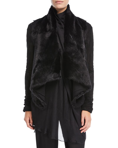 Draped Goat Fur Jacket