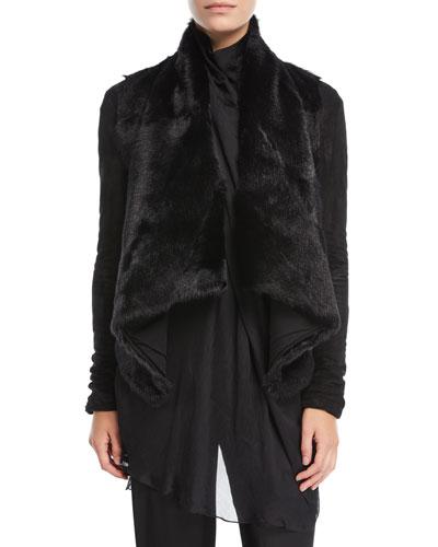 Draped Goat Fur Jacket