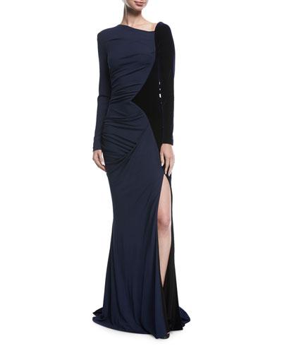 Porta Long-Sleeve Combo Gown