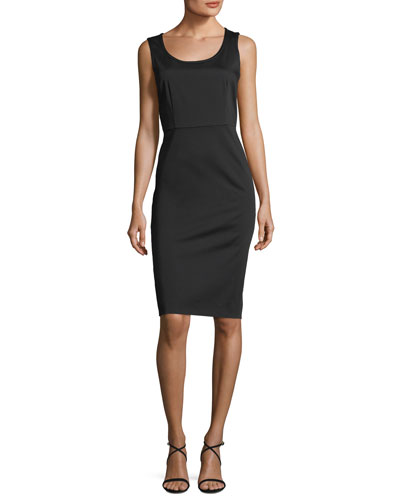 Sleeveless Scoop-Neck Sheath Dress
