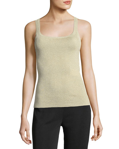 Metallic Knit Tank Top