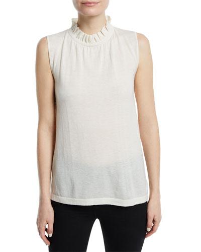 Sleeveless Cashmere Knit Tank
