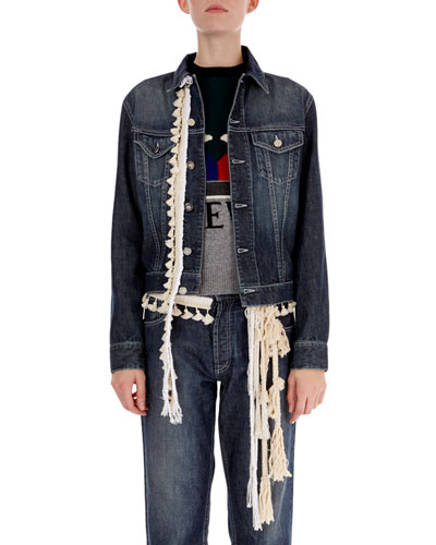 Rope-Trim Denim Jacket
