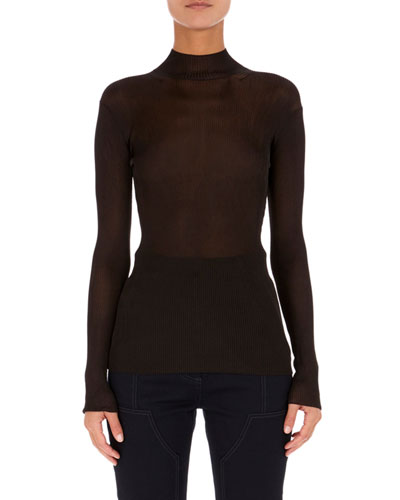 Knit Mock-Neck Top