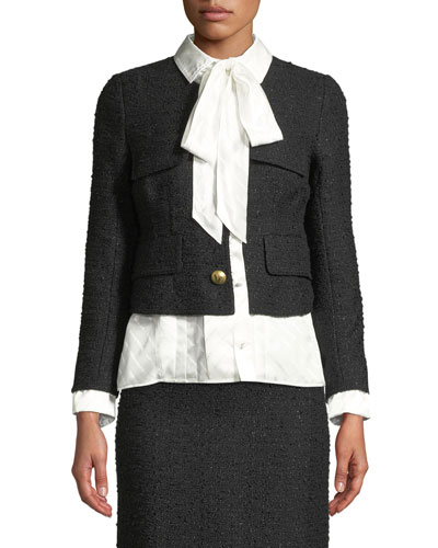 Tailored Tweed Jacket w/Blouse