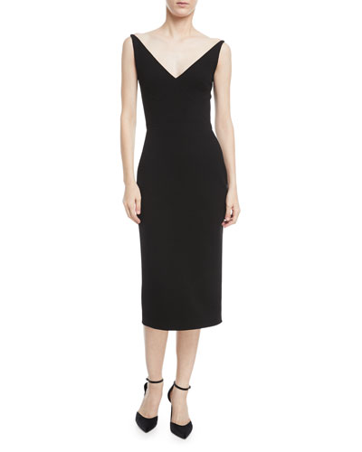 Sleeveless Open-Back Sheath Dress