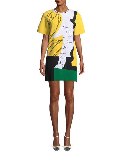 Short-Sleeve Jersey Signature Dress
