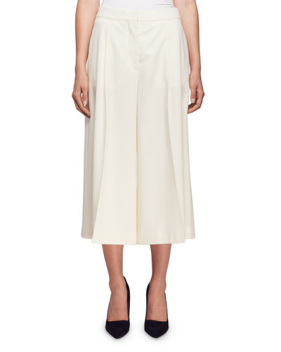 Pleated Wool Culottes
