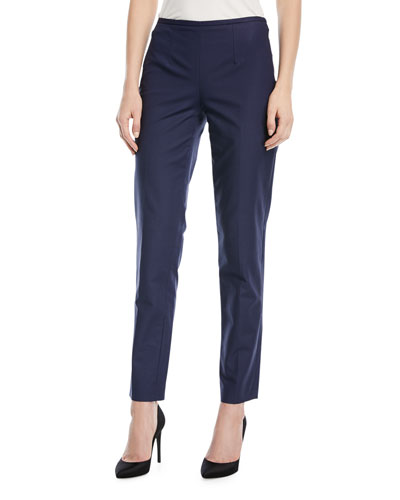 Straight-Leg Side-Zip Pants
