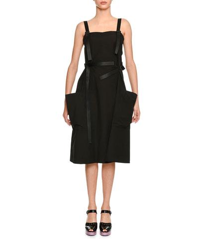 Sleeveless Patch-Pocket Cotton Dress