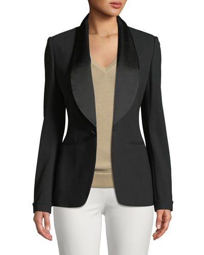 Sawyer One-Button Tuxedo Jacket