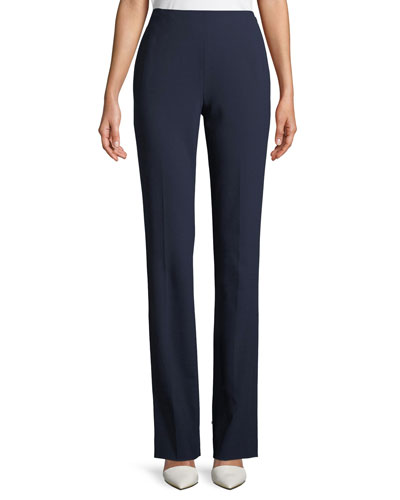 Alandra Straight-Leg Wool Pants